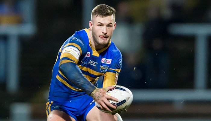 Zak Hardaker playing for Leeds Rhinos during the 2016 season.