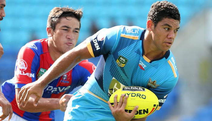 Brian Kelly playing for the Gold Coast Titans.