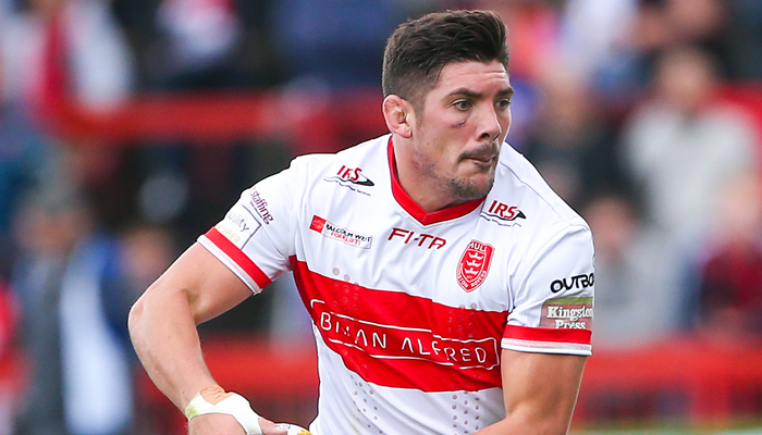 Chris Clarkson playing for Hull KR during the 2016 Super League season.