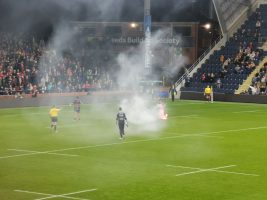 Salford release statement following flare incident